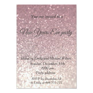 Glittery New Years eve party Card