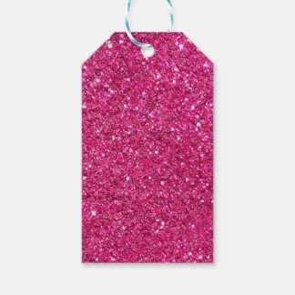 Glittery Pink Gift Tags