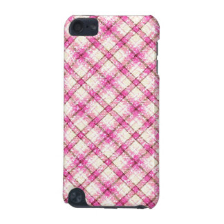 Glittery Pink & Yellow Plaid iPod Touch (5th Generation) Case