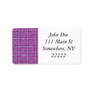 Glittery Purple Awareness Plaid