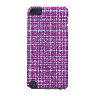 Glittery Purple Awareness Plaid iPod Touch 5G Covers