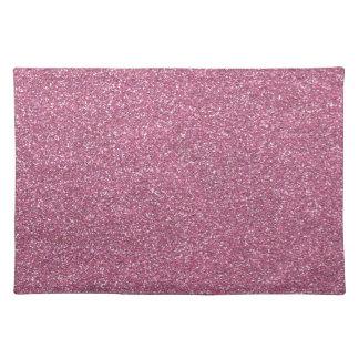 Glittery Shiny Pink Glitters Placemat
