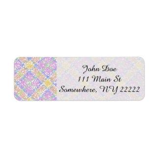 Glittery Spring Tartan Plaid Return Address Label
