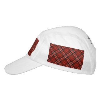 Glittery Tartan Plaid in Red & Black Headsweats Hat