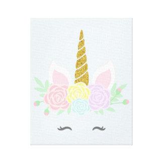 Glittery unicorn canvas