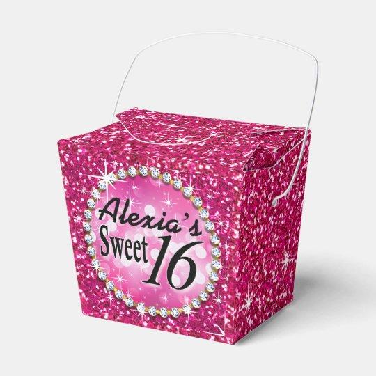 Glitz Bling Glitter Sparkle | fuchsia Favor Box