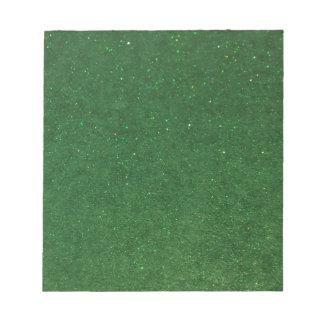 GLITZ Green Notepad