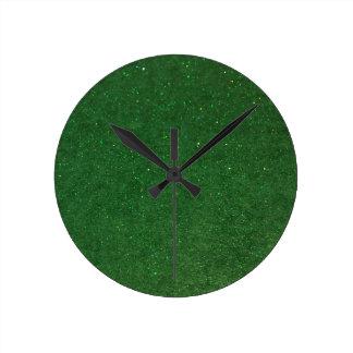 GLITZ Green Round Clock