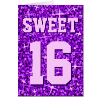 Glitz Pink 'Sweet 16' 'Happy Birthday' card