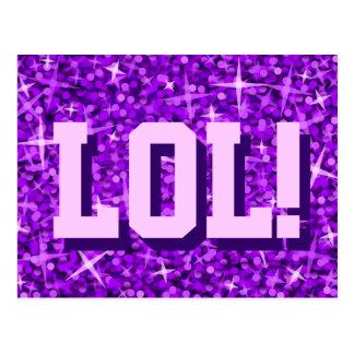 Glitz Purple 'LOL!' postcard