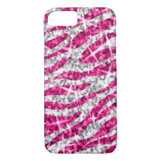 Glitz Zebra Pink iPhone 7 case