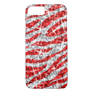 Glitz Zebra Red iPhone 7 case