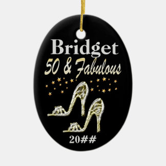 GLITZY 50TH DATED & PERSONALIZED ORNAMENT