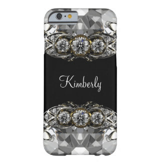 Glitzy Bling Monogram Barely There iPhone 6 Case