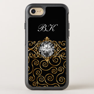Glitzy Classy Ladies Monogram OtterBox Symmetry iPhone 7 Case