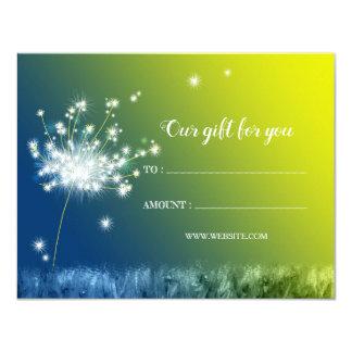 Glitzy Dandelion Business Gift Certificates Card