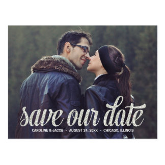 Browse the Modern Save The Date Postcards Collection and personalize by color, design, or style.