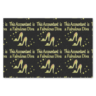 GLITZY GOLD ACCOUNTANT DIVA DESIGN TISSUE PAPER