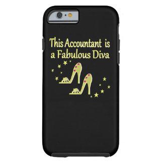 GLITZY GOLD ACCOUNTANT DIVA DESIGN TOUGH iPhone 6 CASE