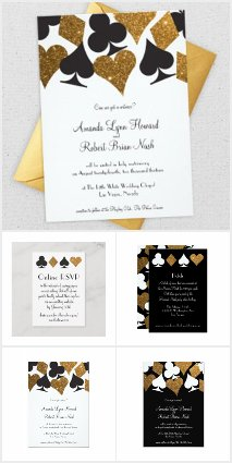 Glitzy Gold Glitter Las Vegas Wedding