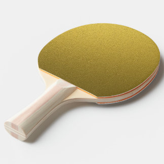 Glitzy Gold Glitter Ping Pong Paddle