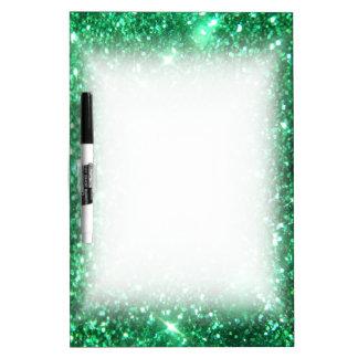 Glitzy Green Glitter Dry Erase Board