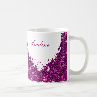 Glitzy Monogram Coffee Mug