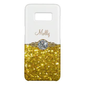 Glitzy Monogram Name Drop Case-Mate Samsung Galaxy S8 Case