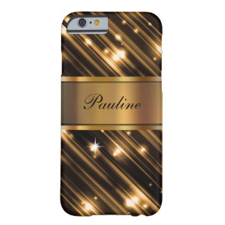 Glitzy Monogram Sparkling Barely There iPhone 6 Case