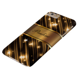 Glitzy Monogram Style Barely There iPhone 6 Plus Case