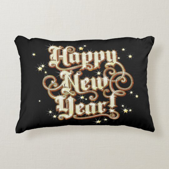 Glitzy New Year Accent Pillow