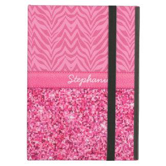 Glitzy Pink Zebra Cover For iPad Air