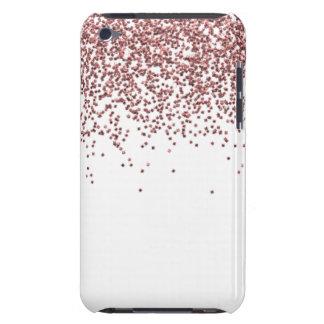 Glitzy Rose Gold Glitter iPod Case-Mate Cases