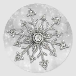 Glitzy Snowflake Christmas Stickers