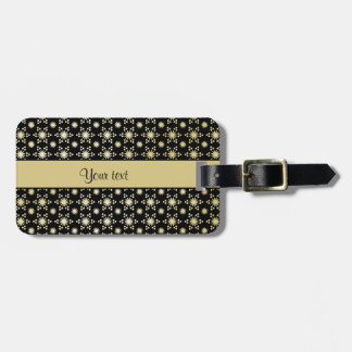 Glitzy Sparkly Faux Gold Stars Luggage Tag