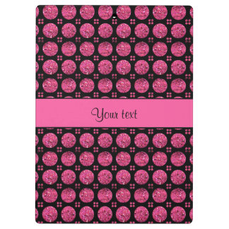 Glitzy Sparkly Hot Pink Glitter Buttons Clipboard