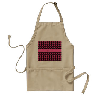 Glitzy Sparkly Hot Pink Glitter Buttons Standard Apron