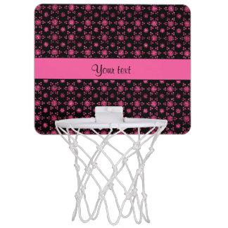 Glitzy Sparkly Hot Pink Glitter Stars Mini Basketball Hoop