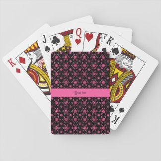 Glitzy Sparkly Hot Pink Glitter Stars Playing Cards
