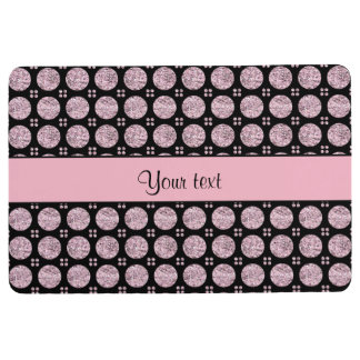 Glitzy Sparkly Lilac Glitter Buttons Floor Mat