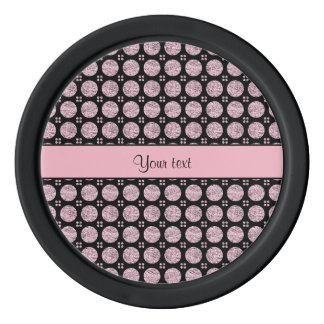Glitzy Sparkly Lilac Glitter Buttons Poker Chips