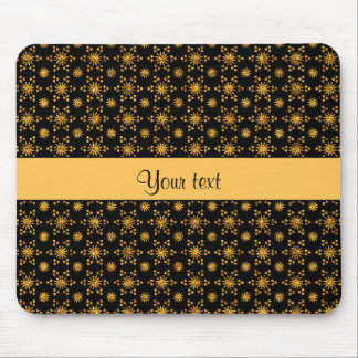 Glitzy Sparkly Orange Glitter Stars Mouse Pad