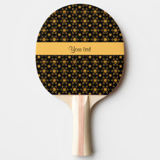 Glitzy Sparkly Orange Glitter Stars Ping Pong Paddle
