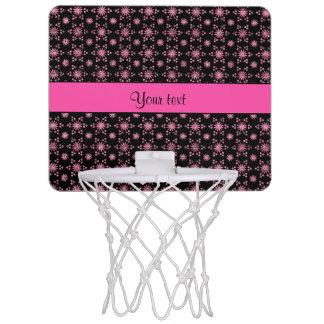 Glitzy Sparkly Pink Glitter Stars Mini Basketball Hoop