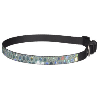 Glitzy Sparkly Silver Glitter Bling Pet Collar