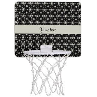 Glitzy Sparkly Silver Glitter Stars Mini Basketball Hoop