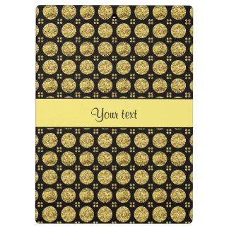 Glitzy Sparkly Yellow Glitter Buttons Clipboard