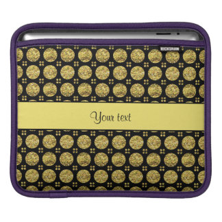 Glitzy Sparkly Yellow Glitter Buttons iPad Sleeve