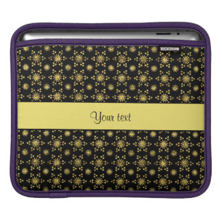 Glitzy Sparkly Yellow Glitter Stars iPad Sleeve