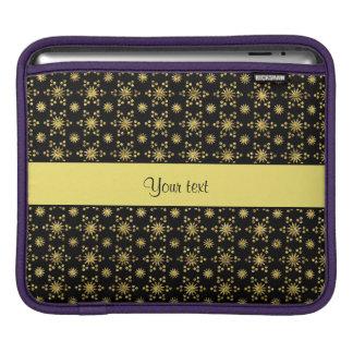 Glitzy Sparkly Yellow Glitter Stars iPad Sleeves